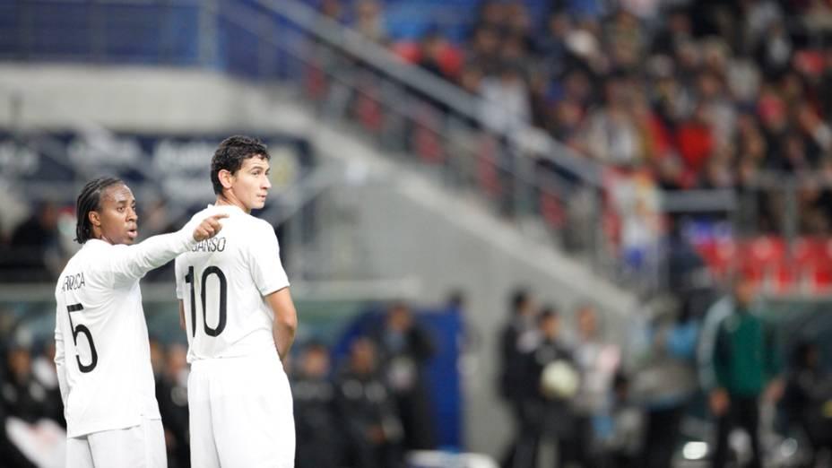 Santos durante a semifinal do Mundial de Clubes da FIFA em Toyota, Japão