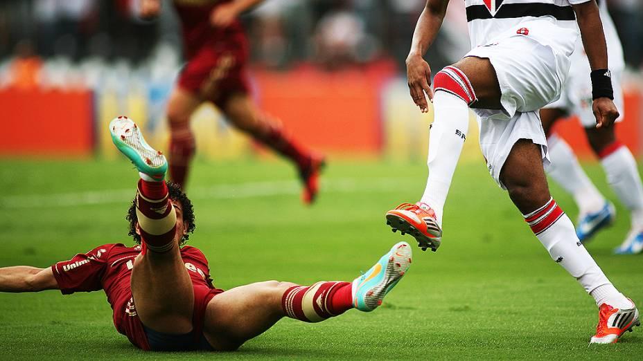 O jogador Wellington Nem durante partida entre São Paulo e Fluminense, no estádio do Morumbi