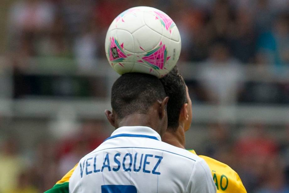 Lance do jogo entre Brasil e Honduras em Newcastle