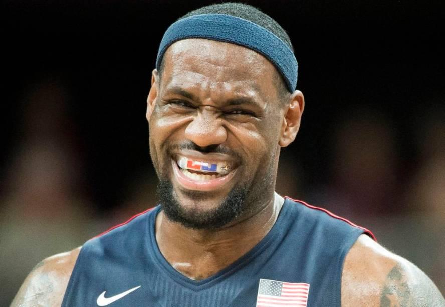 LeBron James, astro do basquete americano em Londres-2012