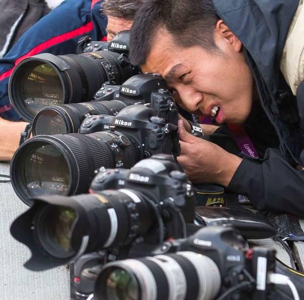 Fotógrafo japonês registra a final dos 200 metros rasos
