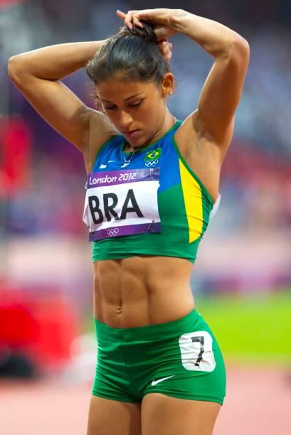 Ana Claudia Silva, brasileira do revezamento 4 x 100 metros