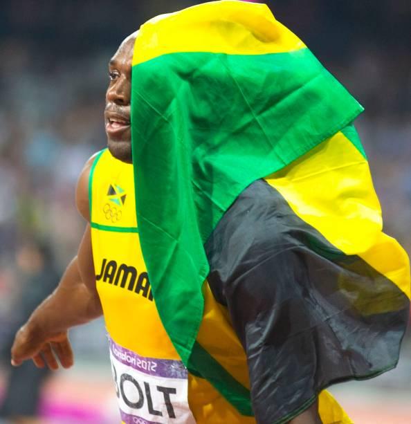 Usain Bolt na final dos 200 metros rasos