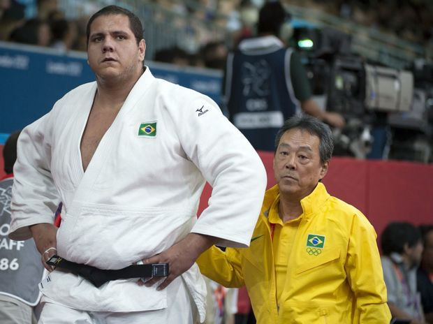 O judoca brasileiro Rafael Silva, que acabou sendo bronze
