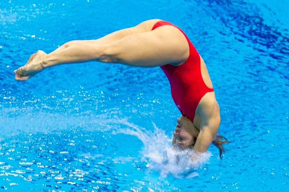 A brasileira Juliana Veloso, dos saltos ornamentais