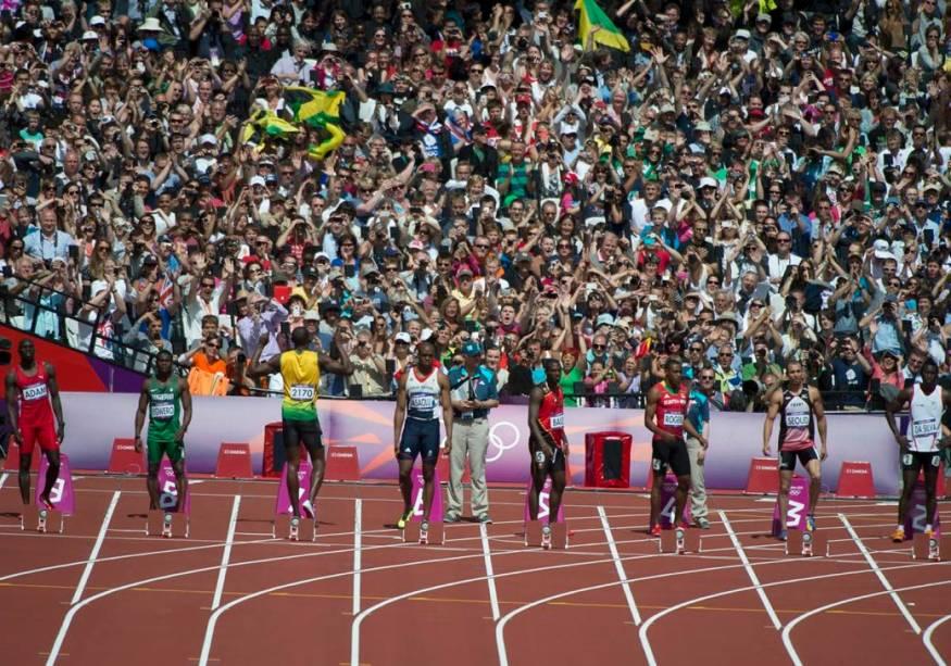 Usain Bolt em sua estreia em Londres-2012