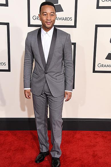 John Legend durante a 57ª edição do Grammy, premiação que elege os melhores da música internacional, que acontece neste domingo (08)<br><br>
