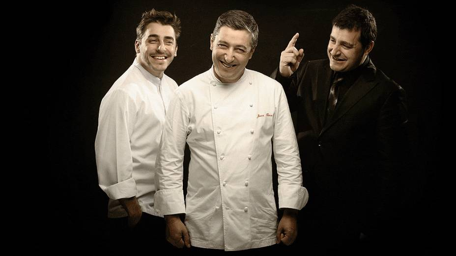 Os irmãos Jordi, Joan e Josep, donos do restaurante El Celler de Can Roca, na Catalunha, eleito o número 1 do mundo pela revista londrina Restaurant