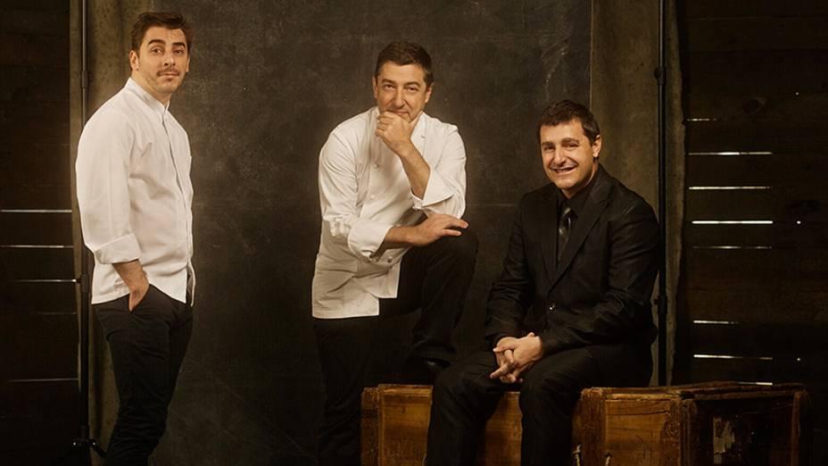 Os irmãos Jordi, Joan e Josep, donos do restaurante El Celler de Can Roca, na Catalunha