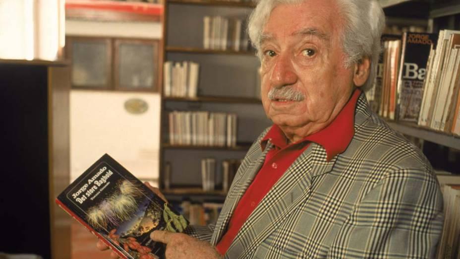 Jorge Amado em 1991, em Salvador, Bahia