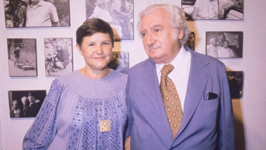 Jorge Amado e Zélia Gattai no final da década de 1980