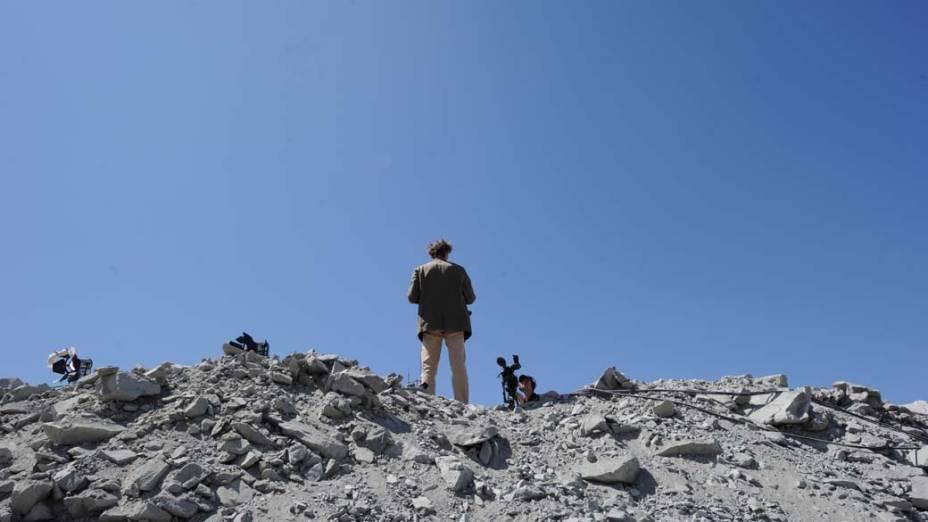 Jornalista em Copiapó, no Chile, acompanha o resgate dos 33 mineiros presos há dez semanas