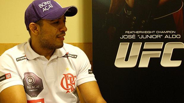 José Aldo na coletiva sobre o UFC Rio 3: promessa de novo show