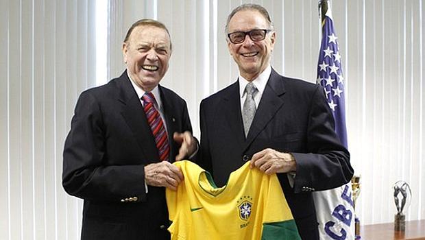José Maria Marin, presidente da CBF, e Carlos Arthur Nuzman, presidente do COB