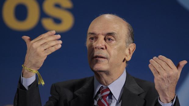 O ex-governador José Serra participa da inauguração da Estação Butantã do Metro de São Paulo, ao lado do governador Geraldo Alckmin e do prefeito Gilberto Kassab