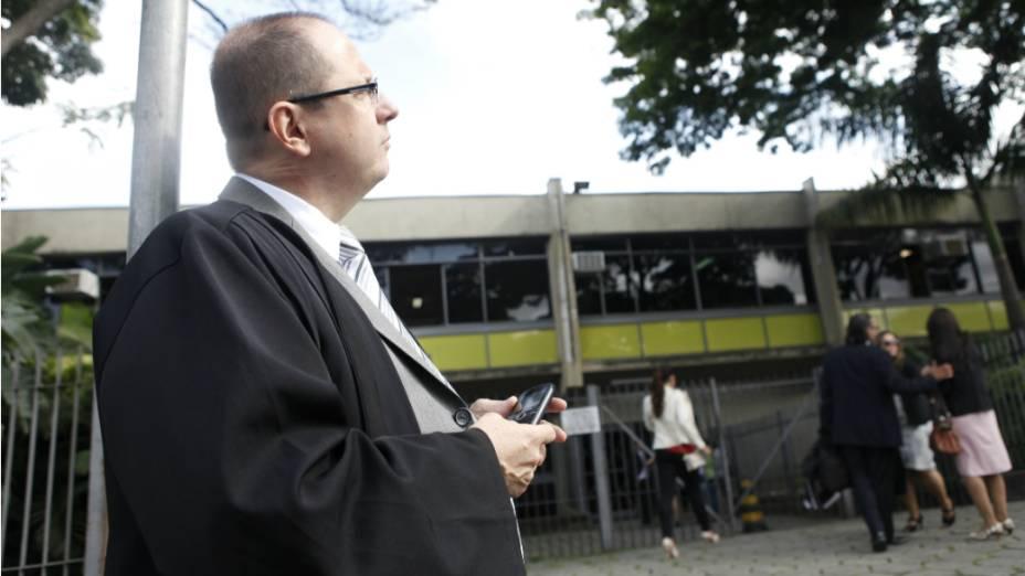 Ercio Quaresma, um dos advogados do acusado Marcos Aparecido dos Santos, o Bola