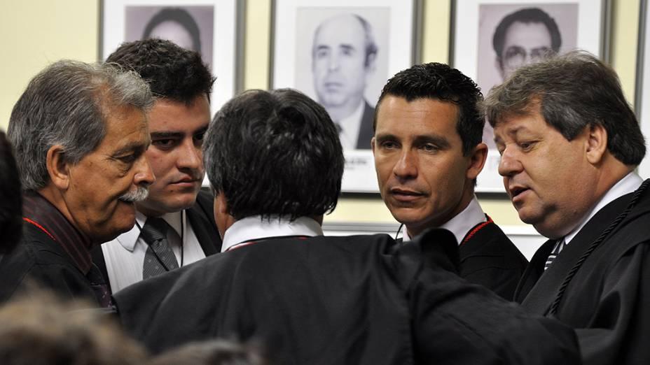 Terceiro dia do julgamento do caso Eliza Samudio realizado no Fórum de Contagem, Minas Gerais