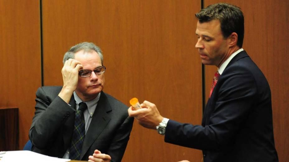 O décimo primeiro dia do julgamento do médico Conrad Murray pela morte de Michael Jackson, em Los Angeles