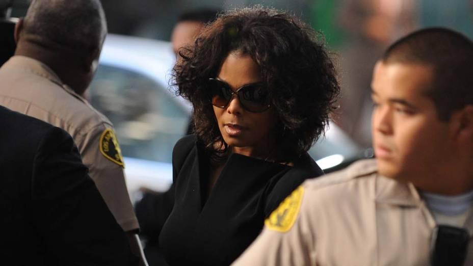 Janet Jackson chega para o primeiro dia do julgamento do médico Conrad Murray, pela morte de Michael Jackson, em Los Angeles