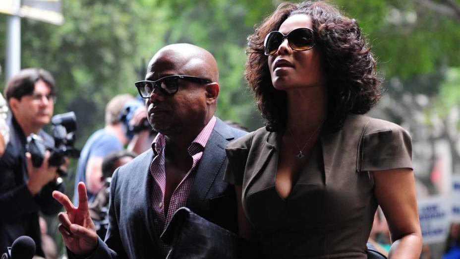 Janet Jackson chega para o terceiro dia do julgamento do médico Conrad Murray, pela morte de Michael Jackson, em Los Angeles
