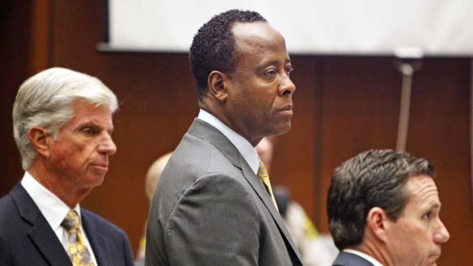 O médico Conrad Murray durante o terceiro dia de julgamento pela morte de Michael Jackson, em Los Angeles