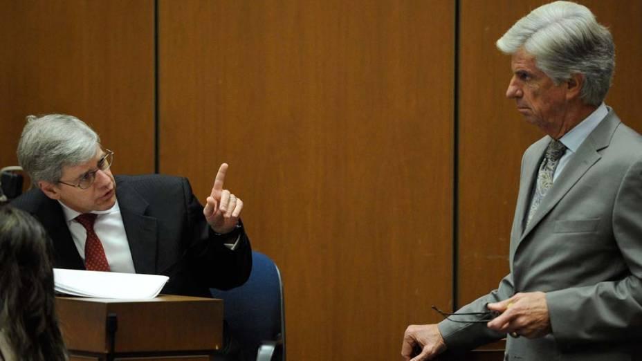 O julgamento do médico Conrad Murray pela morte de Michael Jackson, em Los Angeles, em 01/11/2011
