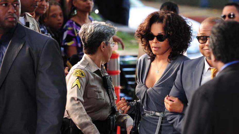 Janet Jackson chega para o quinto dia do julgamento do médico Conrad Murray, pela morte de Michael Jackson, em Los Angeles