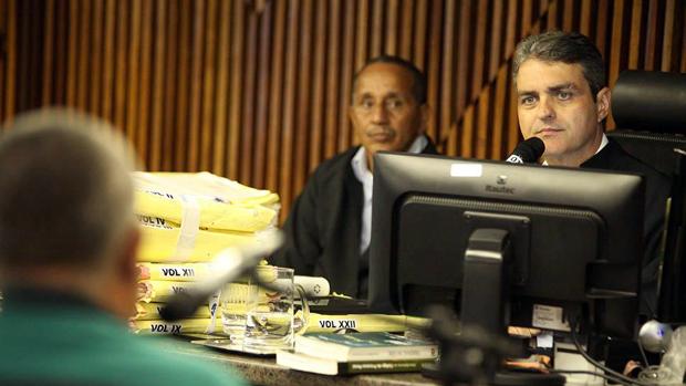Juiz Maurício Brêda durante depoimento do caseiro da mansão de PC Farias