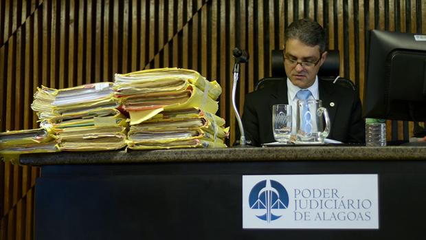 Juiz Maurício Brêda, momentos antes do início do júri