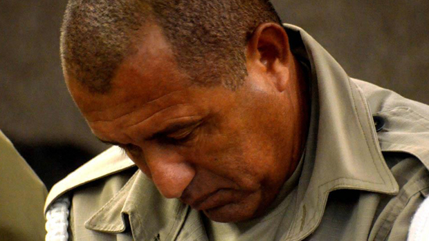 Réu Josemar Faustino dos Santos, policial militar