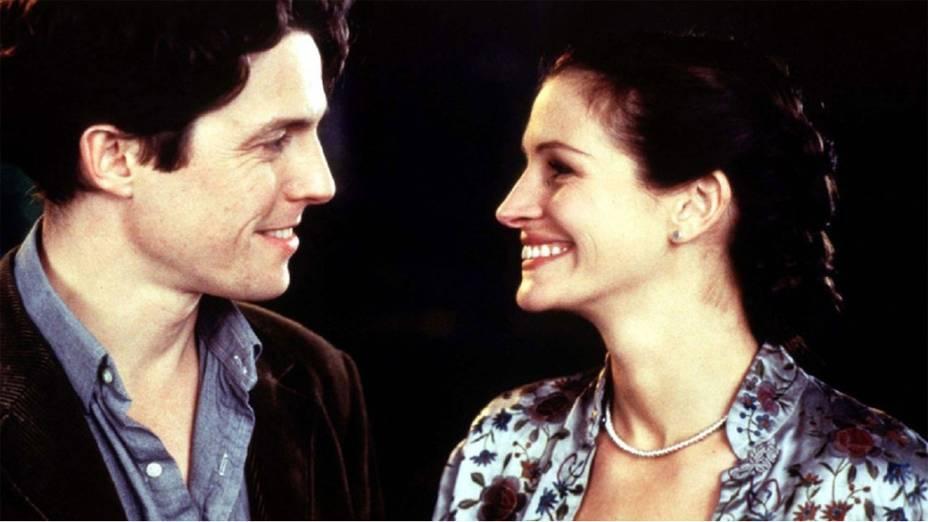 Julia Roberts e Hugh Grant em cena do filme Um Lugar Chamado Notting Hill (1999)