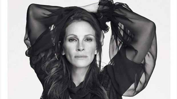 Julia Roberts na campanha da grife Givenchy