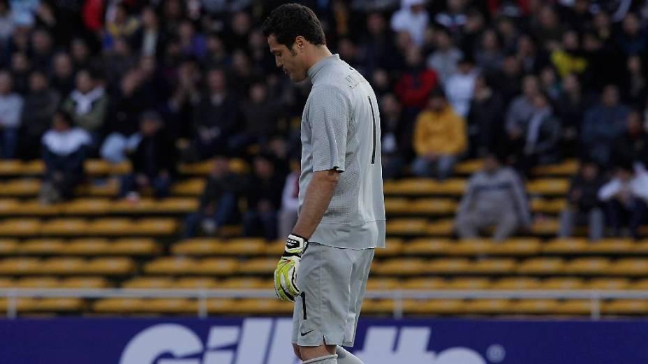 Júlio César depois da derrota para o Paraguai na Copa América de 2011