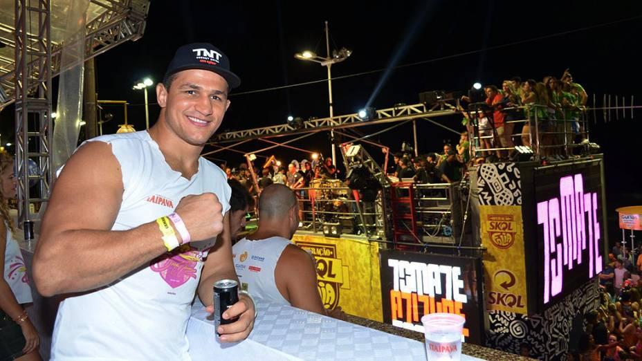 Junior Cigano no camarote de Daniela Mercury no cicuito Barra-Ondina em Salvador