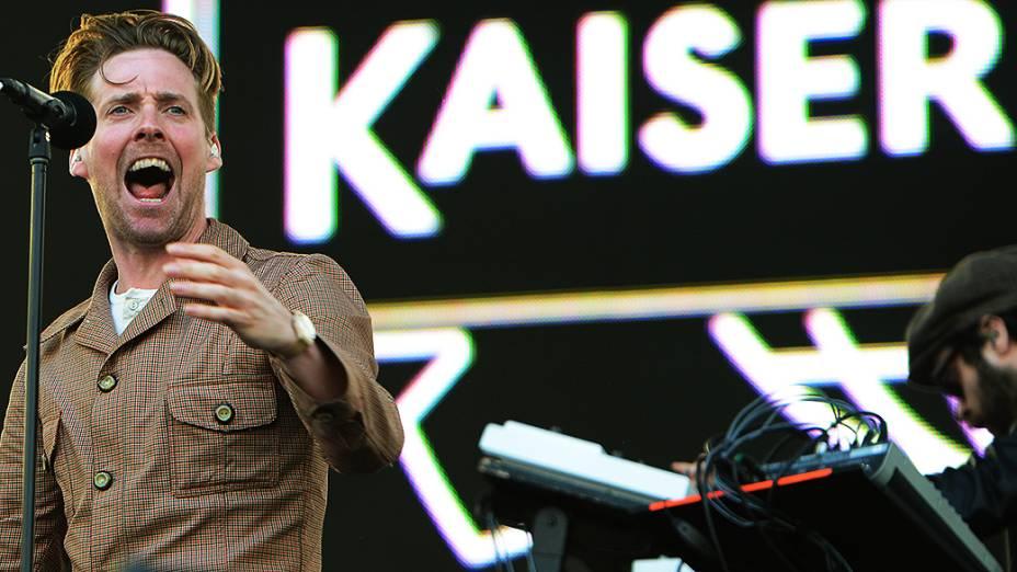 A banda Kaiser Chiefs no Lollapalooza, em São Paulo