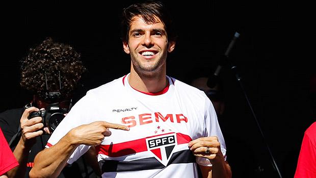 Kaká com camisa do São Paulo