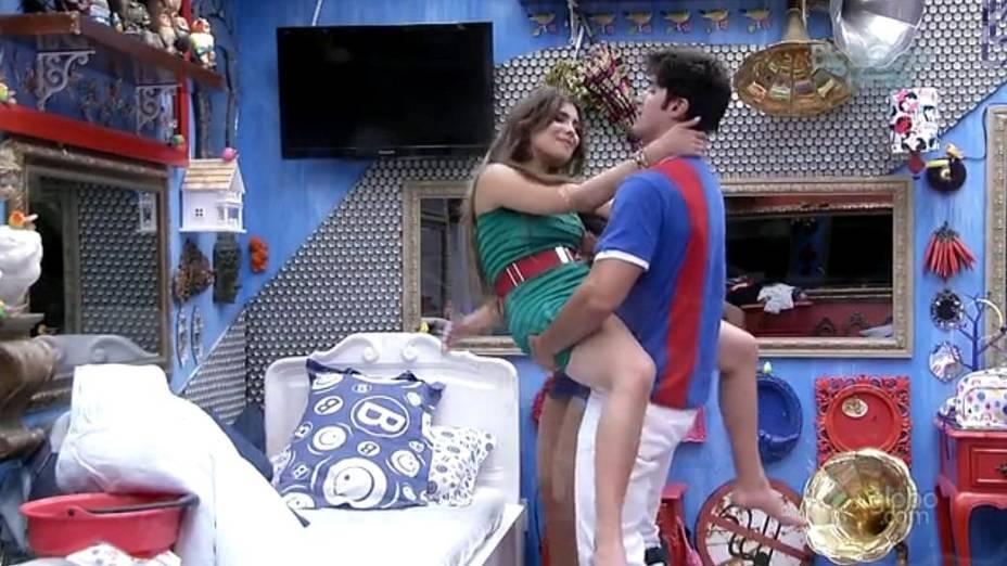 Kamilla e Marcello no BBB 13