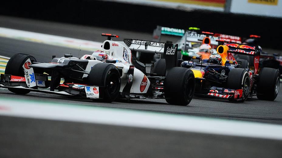 Kamui Kobayashi durante o GP do Brasil de Fórmula 1, em Interlagos