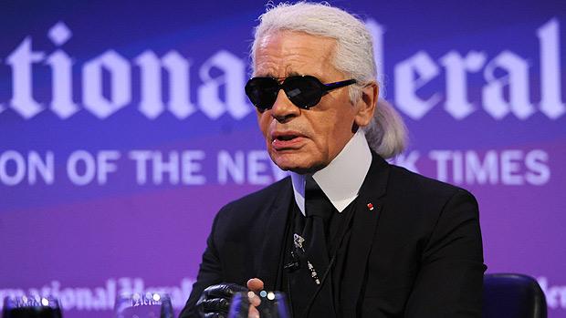 O estilista Karl Lagerfield