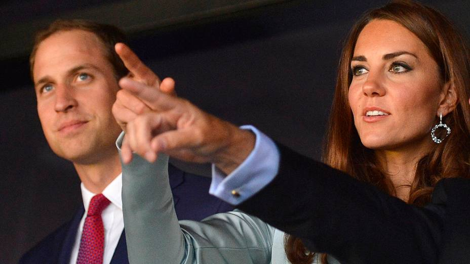A Duquesa de Cambridge, Kate Middleton durante abertura da Olímpiada de Londres 2012