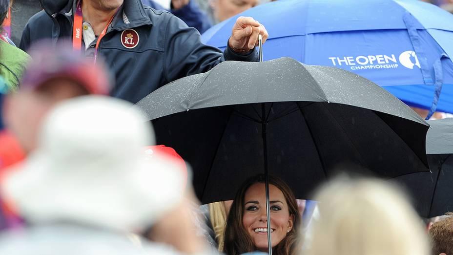 A Duquesa de Cambridge, Kate Middleton durante competição de hipismo no Greenwich Park de Londres