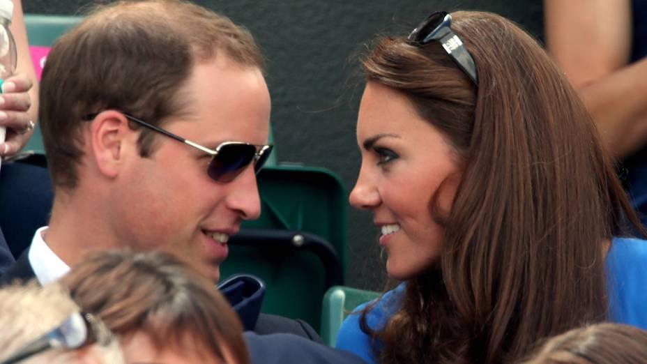 Príncipe William e Kate acompanharam a vitória de Murray no tênis em Wimbledon