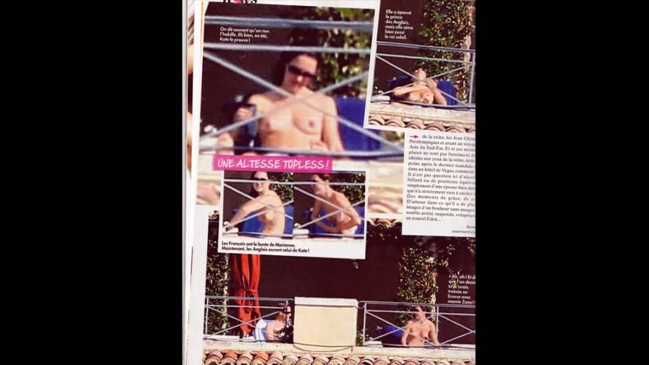 Kate Midleton flagrada fazendo topless