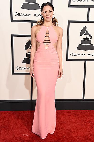 Katharine McPhee durante a 57ª edição do Grammy, premiação que elege os melhores da música internacional, que acontece neste domingo (08)