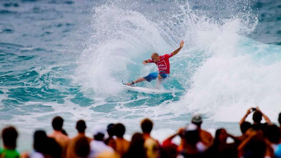 Surfista americano Kelly Slater durante o Quiksilver Pro Gold Coast, torneio de surfe em Queensland na Austrália