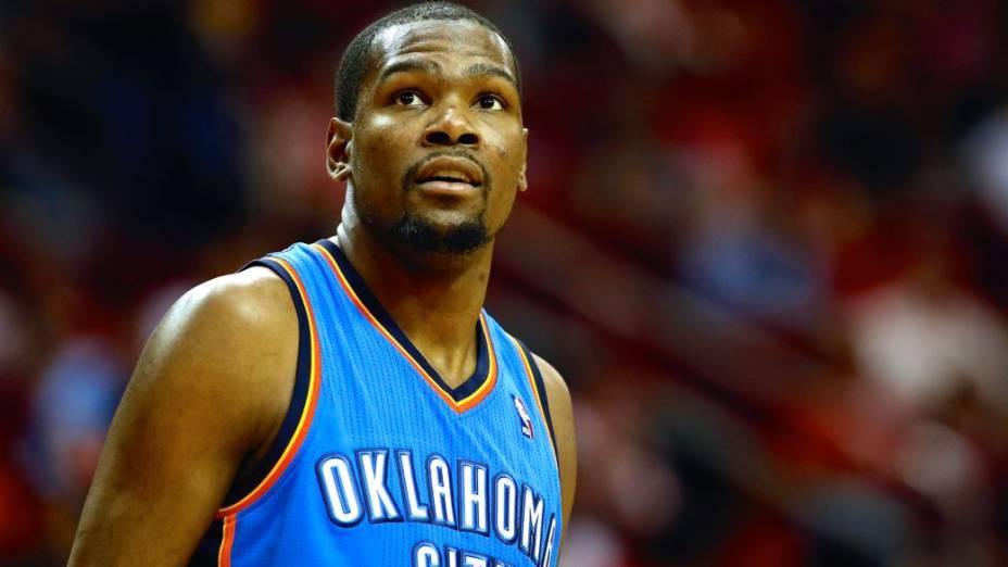 O jogador de basquete Kevin Durant, do Oklahoma City Thunder