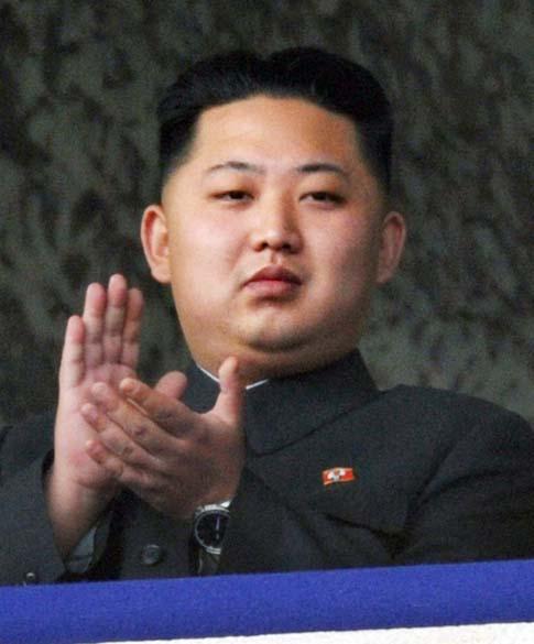 Kim Jong-un, durante as comemorações do 65º aniversário da fundação do Partido dos Trabalhadores da Coreia do Norte, em Pyongyang, outubro de 2010