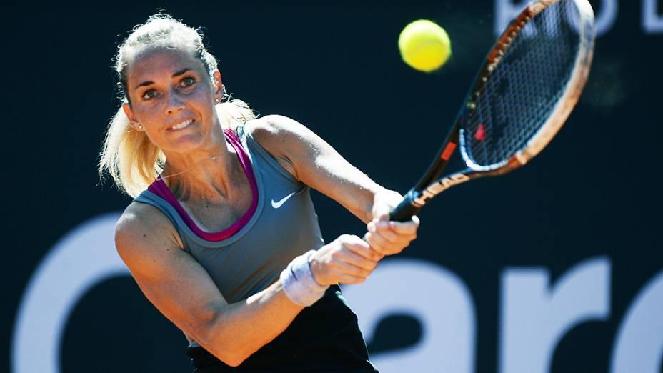 A tenista checa Klara Zakopalova na final do Rio Open 2014