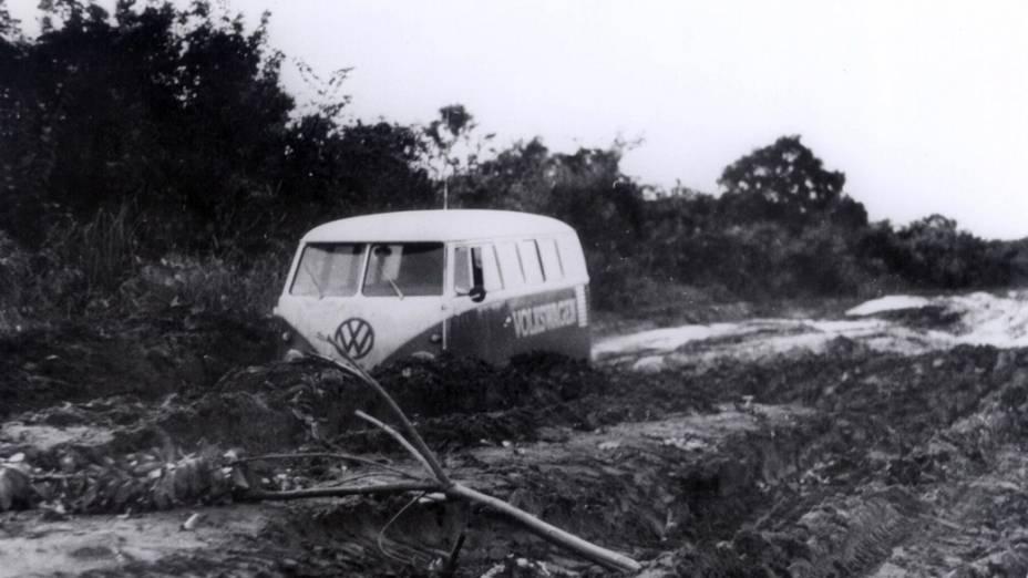 Kombi durante testes, em 1969