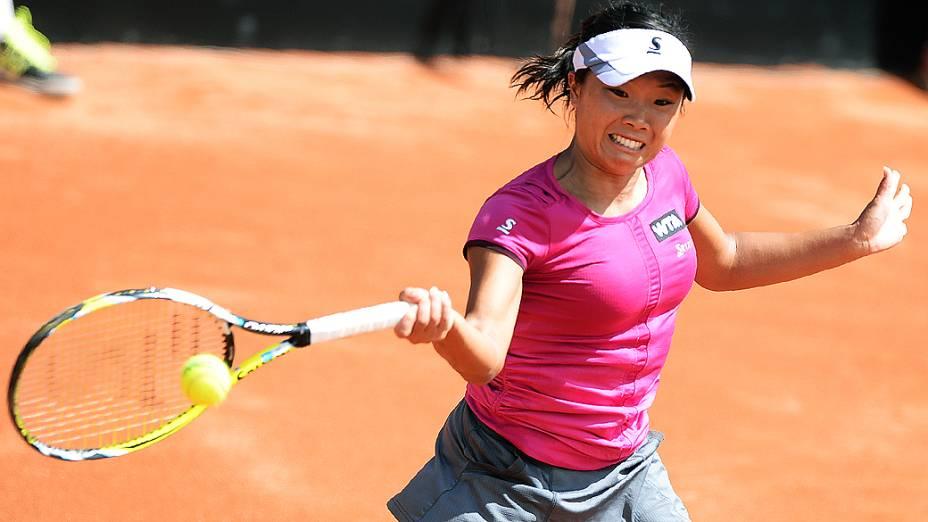 A tenista Kurumi Nara durante o Rio Open 2014